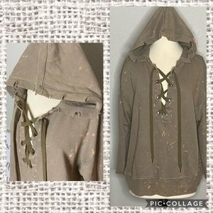 Buckle Gilded Intent Distressed Hoodie Sz XL